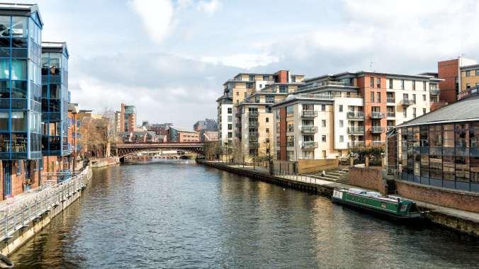 NBAreandare Brewers Wharf Leeds, River Aire